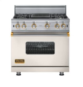 "36"" Custom Sealed Burner Range, Propane Gas, Brass Accent"