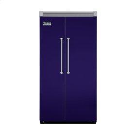 """Cobalt Blue 42"""" Side-by-Side Refrigerator/Freezer - VISB (Integrated Installation)"""