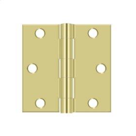 "3""x 3"" Square Hinge - Polished Brass"