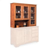"Shaker Hoosier Hutch Top, 61 1/2"", Right, Antique Glass Product Image"