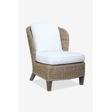 (LS) Ellis Kubu Grey Rattan Club Chair with Cushion ..(28x33x33)