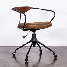 Akron office chair  umber leather cast iron
