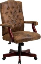 Bomber Brown Classic Executive Swivel Office Chair with Arms Product Image