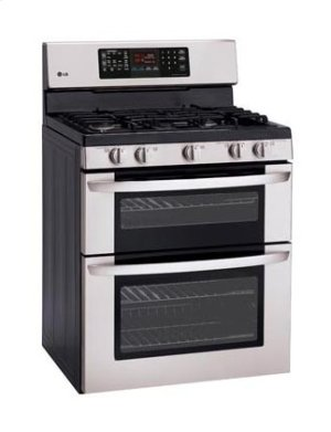 6.1 cu. ft. Capacity Gas Double Oven Range with EasyClean® and IntuiTouch Controls