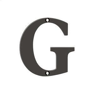 """4"""" Residential Letter G - Oil-rubbed Bronze Product Image"""