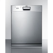 "24"" Wide ADA Compliant Dishwasher With Stainless Steel Door"