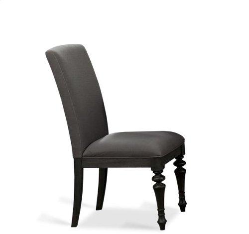 Corinne Upholstered Side Chair Ebonized Acacia finish
