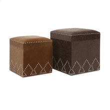 McDonald Nailhead Ottomans - Set of 2