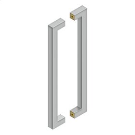 """18"""" Contemporary Pulls, Back-To-Back - Brushed Stainless"""