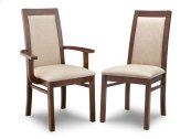 Brooklyn Padded Back Side Chair in Fabric/Bonded Leather