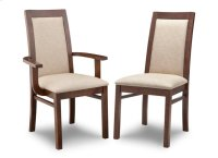Brooklyn Padded Back Side Chair in Fabric/Bonded Leather Product Image