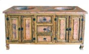 "72"" Copper Vanity W/Drawers Product Image"