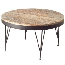 Distressed Wood Coffee Table.