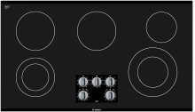 "36"" Electric Cooktop 500 Series - Black Frameless"