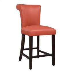 "24"" Barstool-kd-pu Orange#al850-11 Set Up Product Image"