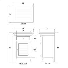 Shutter Nightstand Large