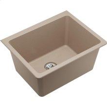 "Elkay Quartz Classic 25"" x 18-1/2"" x 11-13/16"", Undermount Laundry Sink with Perfect Drain, Putty"