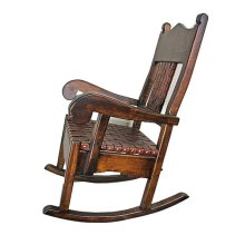 Rocking Chair with Leather