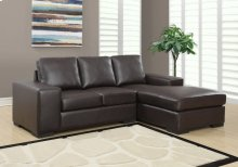 SOFA LOUNGER - DARK BROWN BONDED LEATHER