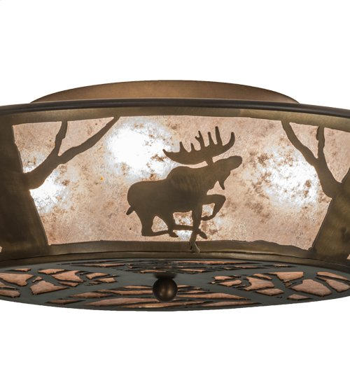 """22"""" Wide Moose on the Loose Flushmount"""