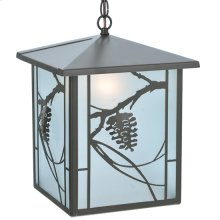 "12""Sq Whispering Pines Lantern Pendant"