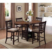 Lavon Transitional Light Oak and Espresso Counter-height Table