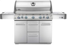 LEX 730 RSBI Stainless Steel with Side Burner and Infrared Bottom & Rear Burners