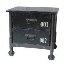 Soho 2 Drawer Cabinet Black
