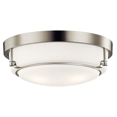 Belmont 3 Light Flush Mount Brushed Nickel