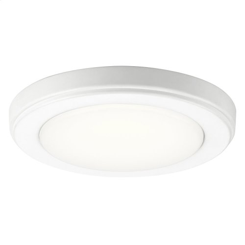 Zeo Collection Zeo 3000K LED 7 Inch round Flushmount WH