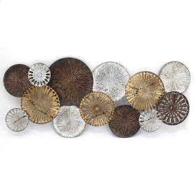 Silver/bronze Circles Wall Sculpture, Wb