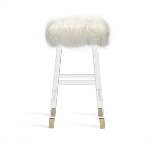 Reva Bar Stool - Ivory Sheepskin