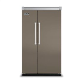 """Stone Gray 48"""" Side-by-Side Refrigerator/Freezer - VISB (Integrated Installation)"""