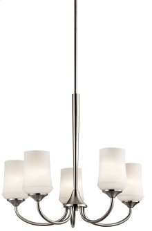 Aubrey 5 Light Chandelier Brushed Nickel