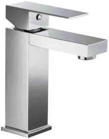 AB1229 Brushed Nickel Square Single Lever Bathroom Faucet