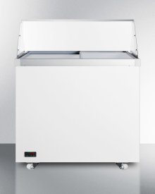 "36"" Wide Dipping Cabinet With Polycarbonate Sneezeguard"