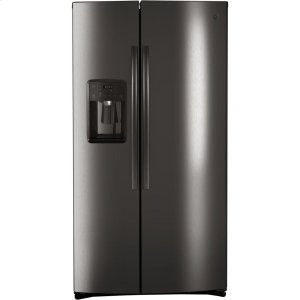 GE® 25.1 Cu. Ft. Side-By-Side Refrigerator - BLACK STAINLESS