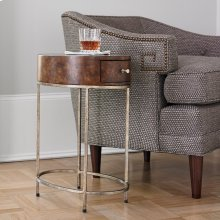 French Key Accent Table - Silver