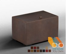 Cache End Table, Premium Leather