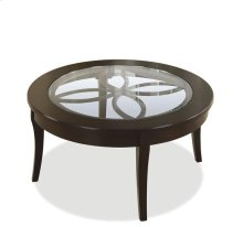 Annandale Round Coffee Table Dark Mahogany finish
