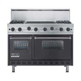 "Graphite Gray 48"" Sealed Burner Range - VGIC (48"" wide, four burners 24"" wide char-grill)"