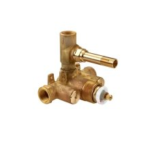 """Dual-control 3/4"""" Thermostatic Valve Rough with Volume Control"""