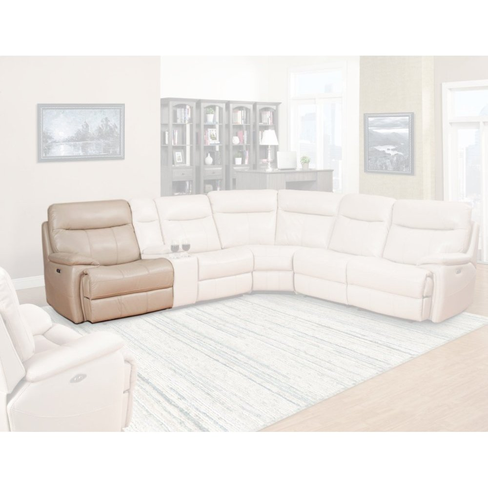 Dylan Crème Power Left Arm Facing Recliner