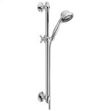 Chrome Premium 7-Setting Slide Bar Hand Shower