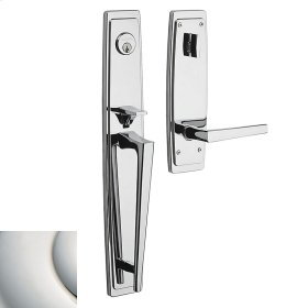 Polished Nickel with Lifetime Finish Palm Springs Full Escutcheon Handleset