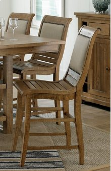 Upholstered Chair - Distressed Pine Finish