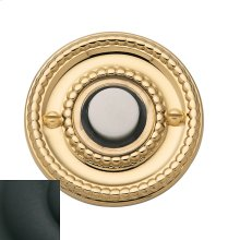 Satin Black Beaded Bell Button