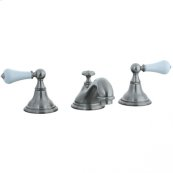 Asbury - 3 Hole Widespread Teapot Lavatory Faucet - Polished Chrome