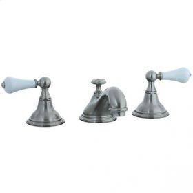 Asbury - 3 Hole Widespread Teapot Lavatory Faucet - Polished Chrome