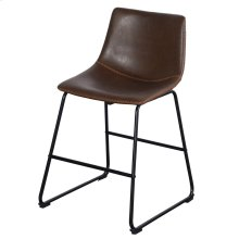 Contour Bistro  22in X 34in X 20in Distinctive Black Powder Coat Iron Sled Base with Faux Leather S